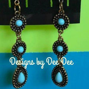 Gold Tone Drop Earrings